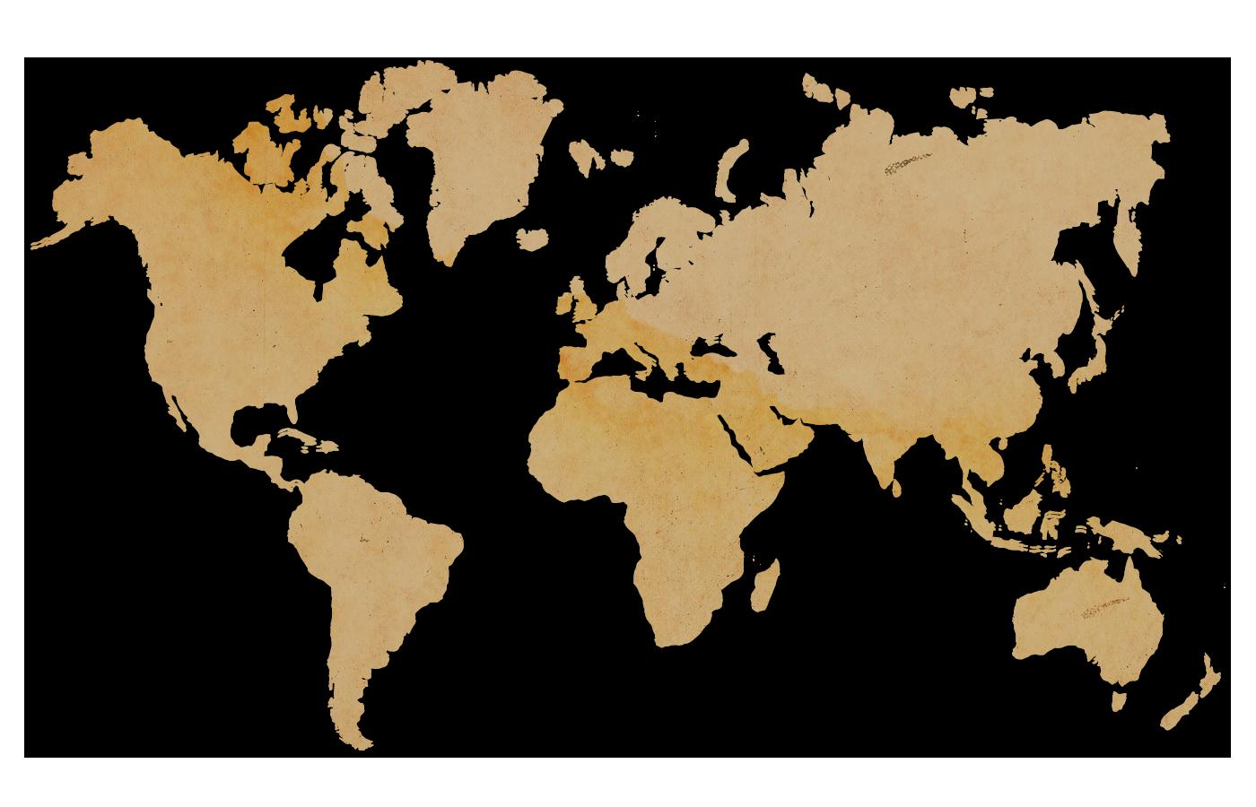 Carte du monde papier vieillit