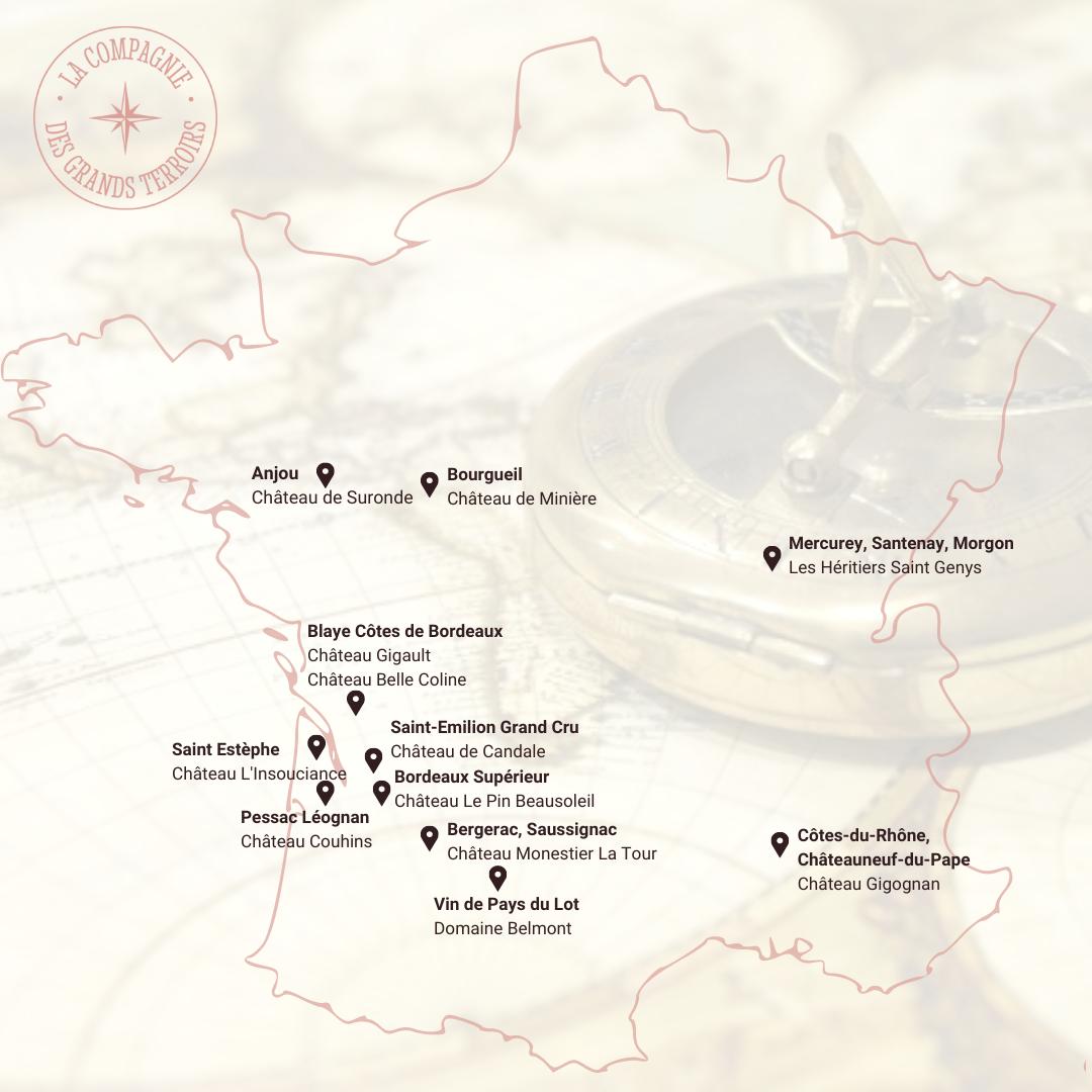 La carte des domaines